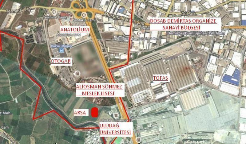 Bursa Alaşar Tofaş Karşısı Satılık Arsa