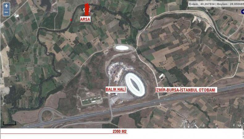 Bursa Nilüfer Yolçatı 2350 M2 Satılık Tarla